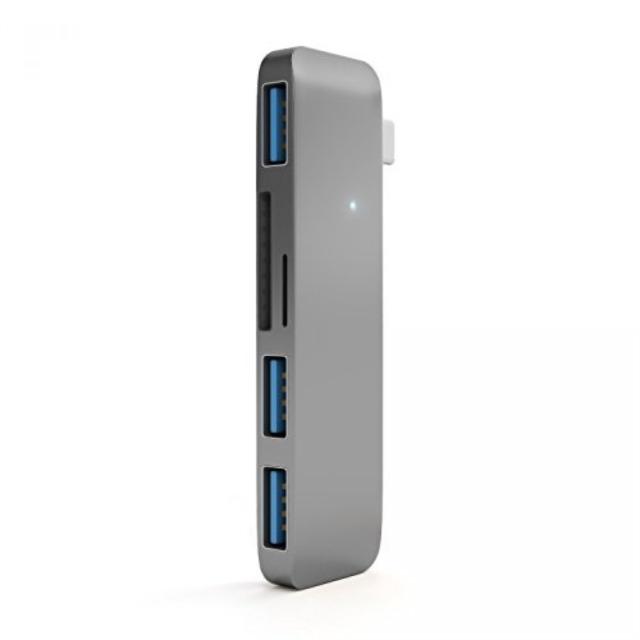 Satechi Type-C USB 3.0 3 in 1 Combo Hub - 3-Port USB3.0 Hub, TF/MicroSD Card & S