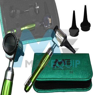MINI OTOSCOPE Fiber Optic Medical Examination Diagnostic Set 4 METALLIC COLOURS