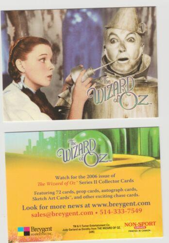 BREYGENT THE WIZARD OF OZ Series 2 Promo Card Non Sport Update