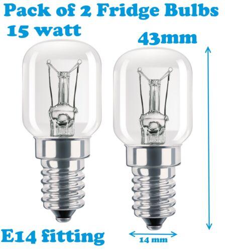 Ram Next Dimension Confezione da 2 LAMPADINA 15W Lampada per frigo e freezer E14
