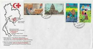 Thailand 1980s Red Cross Relief to Refugees Multiple Stamps Cover Ref 23668