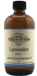 Lavender-40-42-Essential-Oil-8-oz-100-pure-Uncut-Soap-making-Aromatherapy