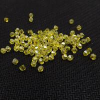 #5301 DIY  jewelry 3mm/4mm Glass Crystal Bicone bead 1000pcs Lemon yellow AB