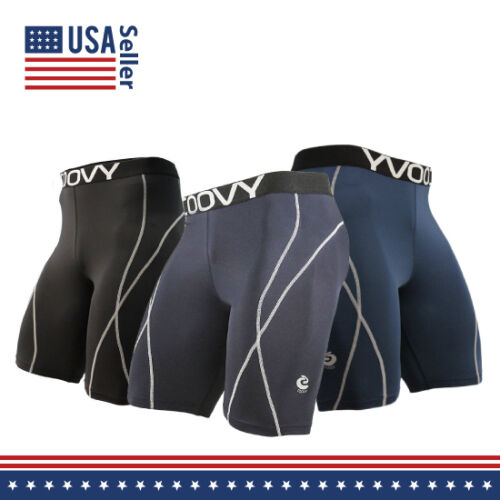 Mens COOVY Sports Compression Base Layer Shorts Running workout swim surf cycle