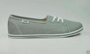 VANS-Leah-Frost-Gray-Canvas-Slip-On-Flat-Women-Shoes