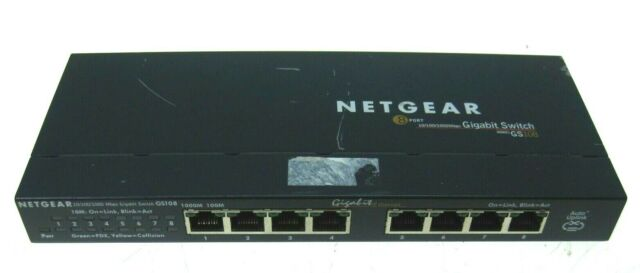 NETGEAR ProSafe GS108 8 Port Gigabit Ethernet Unmanaged Network Switch