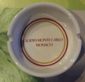 Ancien-Cendrier-Circulaire-Publicitaire-Loews-Monte-Carlo-Monaco-Fumerie