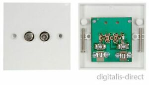TWIN-SATELLITE-F-TYPE-WALL-PLATE-FACEPLATE-SOCKET-CONNECTOR-SKY-HD-OUTLET-PCB