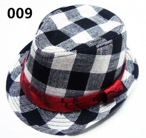 Toddler Baby Boy Girl Fashion Flat Top Fedora Hat Sun Hat Blues Jazz Cap Dance