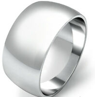 925 Sterling Silver Womens Mens 2mm to 12mm D Shape Wedding Band Ring  All Sizes