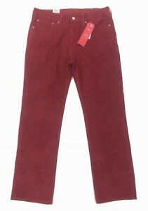 80d698c8 NEW Levi's 514 Straight Fit Corduroy 2 Way Stretch Mens Pants Red ...