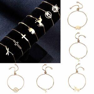 Fashion-Stainless-Steel-Elephant-Horse-Animal-Bracelets-Women-Bangle-Jewelry-Hot