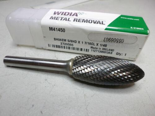 """Quantity HIGH QUALITY WIDIA ROTARY BURR M41450 FLAME SHAPE 5//8/"""" Dia Carbide"""