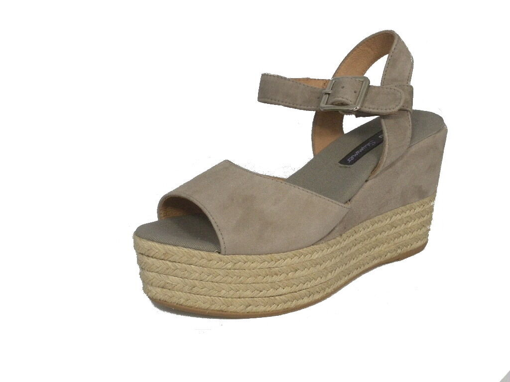 SANDALI FRAU DONNA  ZEPPA MADE IN CAMOSCIO 81A0 TAUPE MADE ZEPPA IN ITALY SHOES 9b3ec9