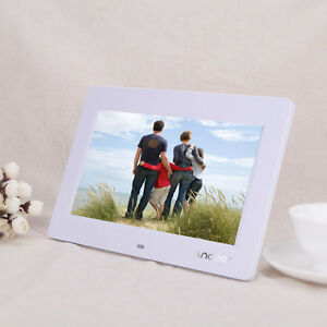 10'' LCD 1024 * 600 Digital Photo Frame Alarm Clock MP3 MP4 Movie Player White