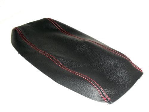 Rivestimento per bracciolo Alfa Romeo 147 in vera pelle nera filo rosso