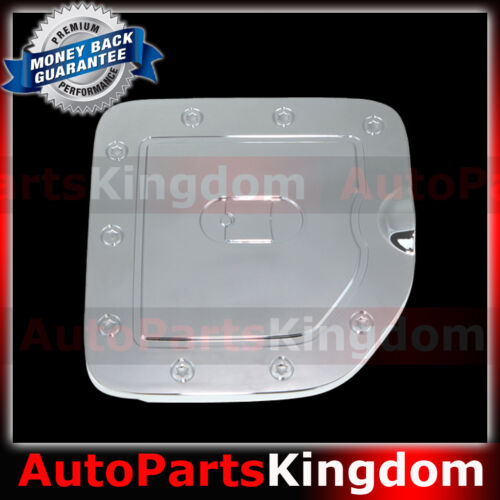 Triple Chrome Gas door Cover for 05-15 Nissan Frontier LONG Truck Bed only