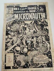 MICRONAUTS COMIC #35 ORIGINAL COMIC ART SIGNED BY BOB LAYTON
