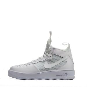 Nike Air 1 Ultraforce Mid Force MEN'S SNEAKERS in Bianco Triplo RRP 84.99