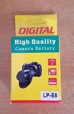 For CANON LP-E8 REBEL T2I T3I T4I 550D 600D 650D CAMERA LP E8 BATTERY LPE8 New