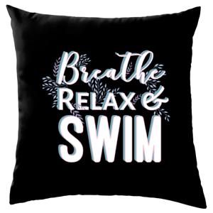 Atme Entspann Schwimm Sofa Dekokissen Lustige Spruche Yoga Relax