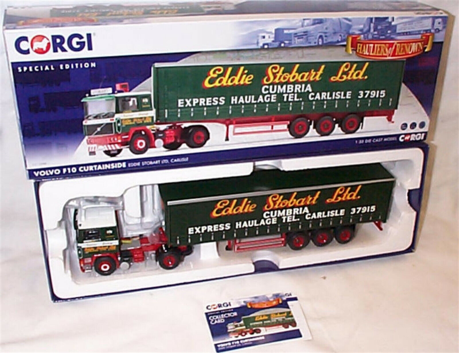 Volvo F10 Curtainside Eddie Stobart CC15508 1-50 New in box Special edition