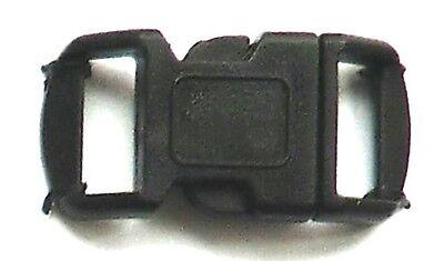 Steckverschluss Steckschnalle z.B. für Paracord 40 x 18 mm - schwarz - 2 Stück
