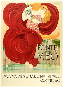 Original-Vintage-Poster-F-NONNI-fonte-Meo-Acqua-MINERALE-naturale-1924
