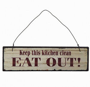 Image Is Loading SMALL KEEP THIS KITCHEN CLEAN SIGN PLAQUE IDEAL
