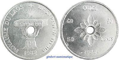 LAOS  ,  50  CENT    1952     ,  SUPERBE