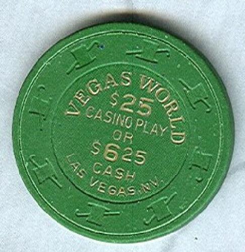 V3581 $6.25-$25 CHIP LAS VEGAS AVG VEGAS WORLD CASINO GREEN