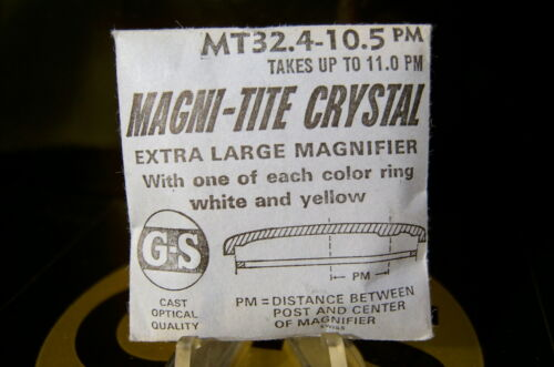 GS Magni-Tite Date Window Crystals With Tension Rings 27.5-30.0 mm