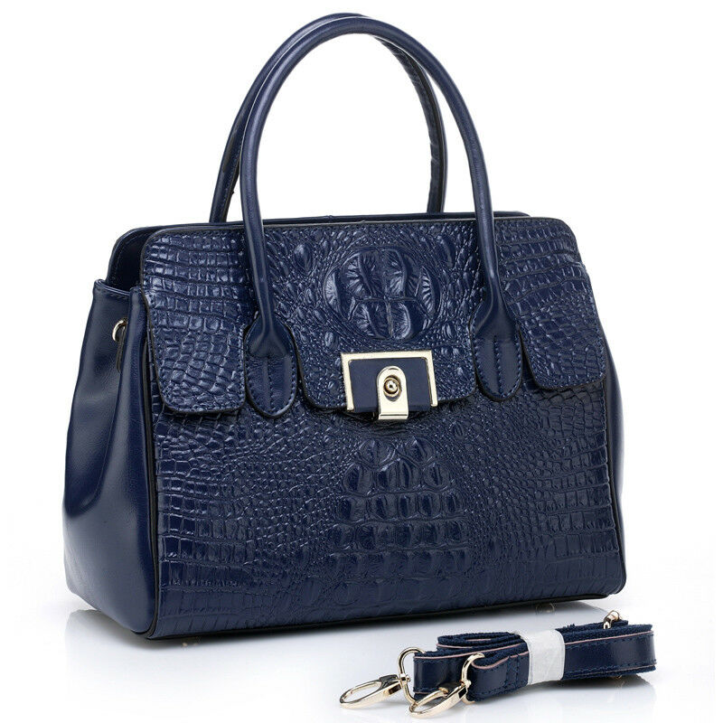 Noble Bags Adory Alligator Flap Dark Dark Dark schwarz Tote Damen Lederhandtasche | Sehr gute Farbe  | Online Shop Europe  | Zuverlässige Leistung  65c120