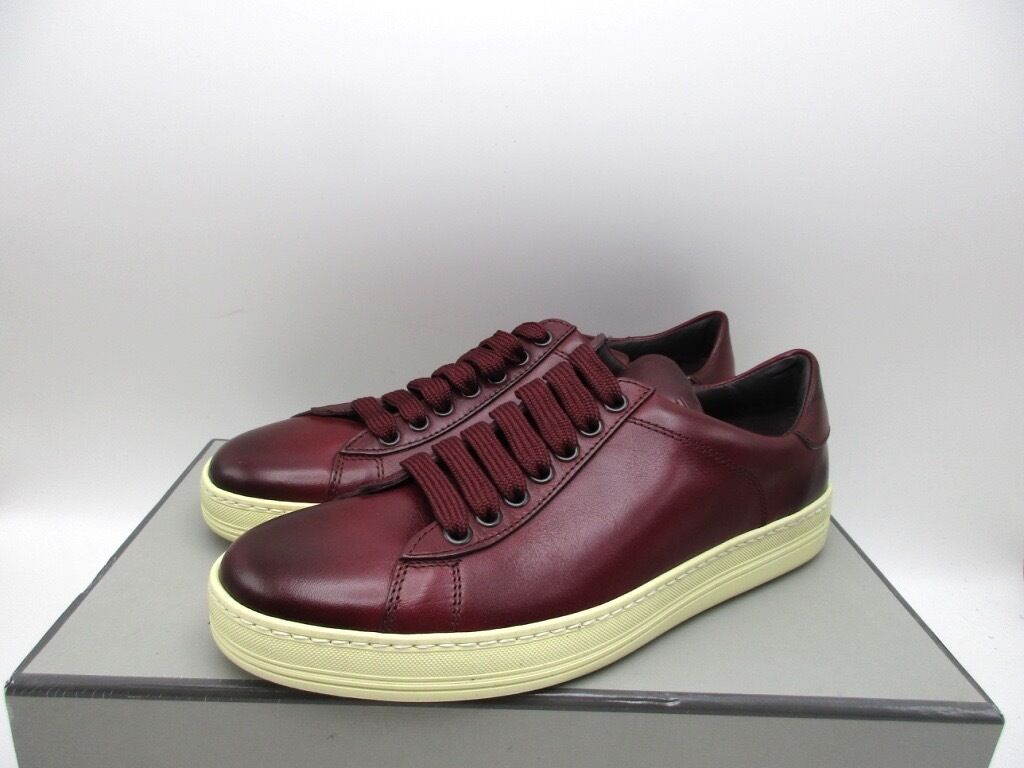 Tom Ford Burgundy Flat Walking Sneakers Shoes Shoes Shoes $770 38 cd51f3