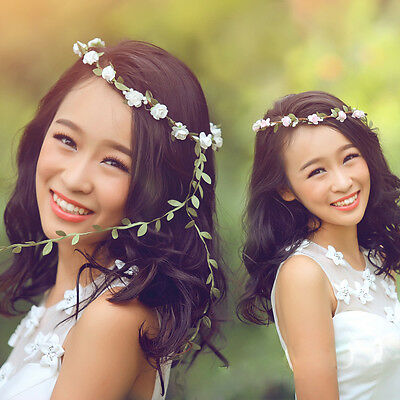 10 Colors Flower Garland Headbands Bohemian Festival Wedding Bride Headdress