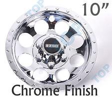 "E-Z-GO OEM Golf Cart 10"" Chrome Wheel Covers Hub Caps - (Set of 4)"