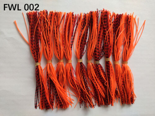 10 Bundles 50 Strands Silicone Skirts Fishing Buzzbait SpinnerBait Jig Bass Lure