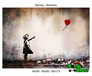 Stampa su Tela Canvas 100/% QUALITà ITALIA BAMBINA BANSKY