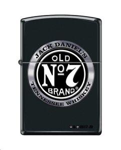 "Zippo ""Jack Daniel's Old No. 7 Tennessee Whiskey"" Black Matte Lighter, 4418"