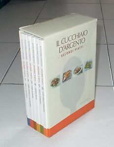 Box-6-libri-IL-CUCCHIAIO-D-039-ARGENTO-Secondi-piatti-Editoriale-Domus-2004-Ricette