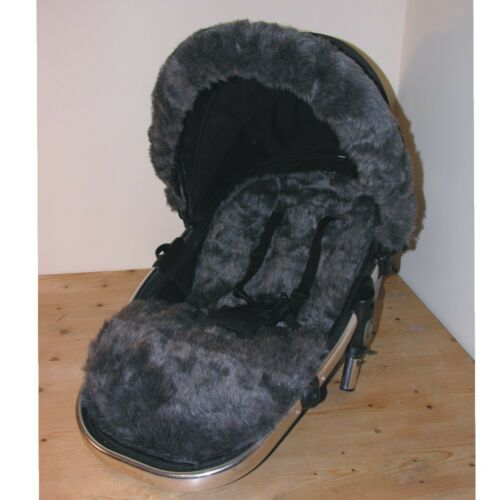 Luxury Fur Seat Liners for Silver Cross Pioneer Pushchairs Liner only