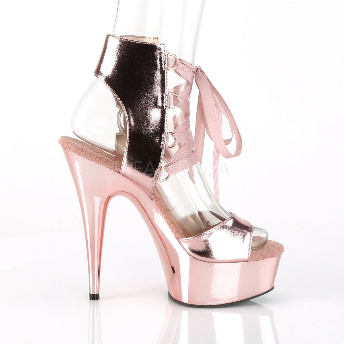 Delight 600-14 Lace Up 6  High Heel Rose or Platform Sandal chaussures