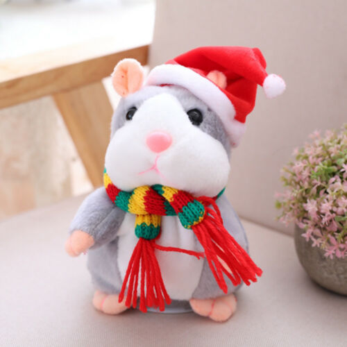 Cheeky Hamster Talking Mouse Pet Christmas Toy Speak Sound Record Xmas Gift