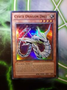 1st Cyber Dragon Drei Super Rare MP Yugioh SDCR-EN002