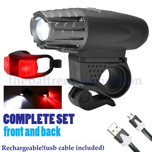 5000-Lumen-8-4V-Rechargeable-Cycling-Light-Bicycle-Bike-LED-Front-Rear-Lamp-Set