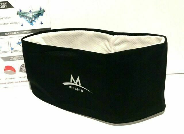 MISSION Multi Cool Cooling Classic Headband Black