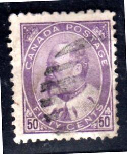 CANADA-1908-50-CENTS-KING-EDWARD-SCOTT-95-NO-PAPER-FAULTS-FINE