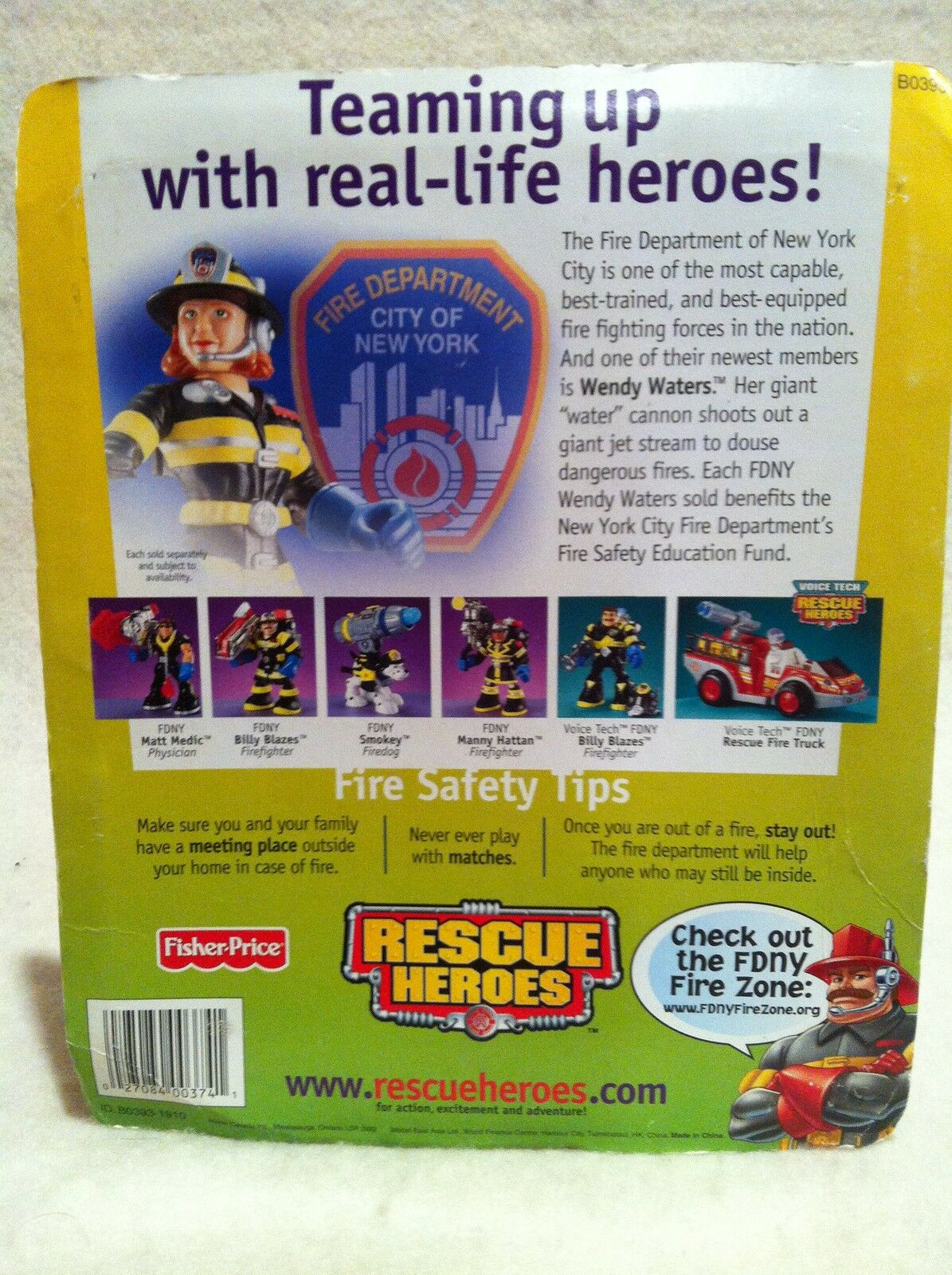 Rescue Heroes  FDNY    Wendy Waters Factory Sealed  9fe1bb