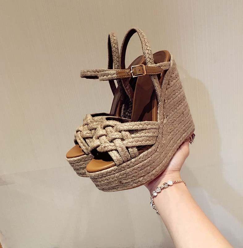 New Womens Wedge Heel Platform Peep Toe Sandals High Heel Gladiator shoes Size