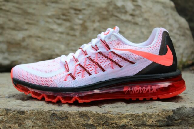 hot sale online e95fe 9816d Nike Air Max 2015 White Bright Crimson Black Mens Sz 8 698902 106
